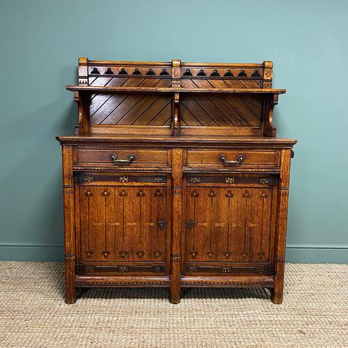 Victorian Holland & Sons Antique Oak Sideboard (1 of 9)