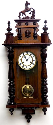 Victorian 8-day Wall Clock – Antique Striking Vienna Wall Clock by Hac (1 of 14)