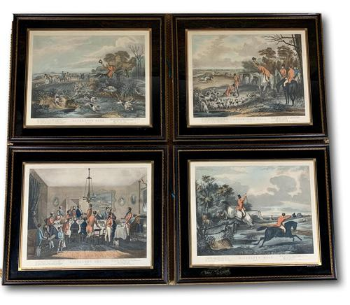 Set of Four 19th Century Hunting Prints (1 of 6)