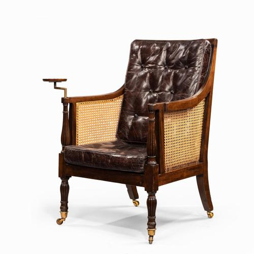 Regency Mahogany Bergère chair (1 of 8)