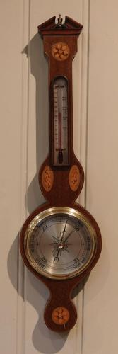 Small Mahogany and Inlay Barometer (1 of 6)