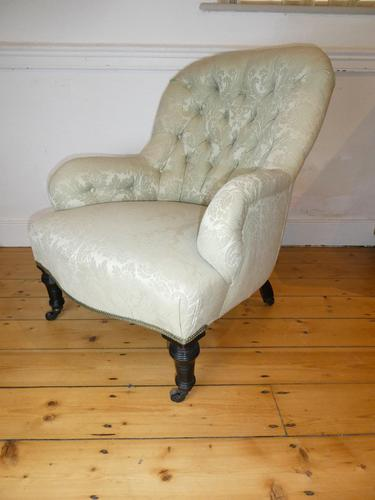19th Century Upholstered Arm Chair (1 of 10)