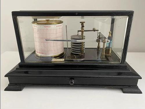 Ebonised Barograph by Franklin & Hare, Taunton (1 of 3)