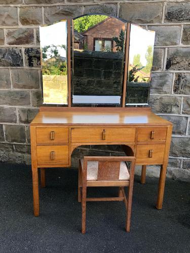 Antique Heals Oak Dressing Table & Stool (1 of 12)