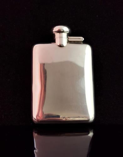 Vintage Sterling Silver Hip Flask (1 of 13)