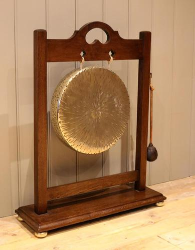 Oak Framed Floor Standing Gong (1 of 9)