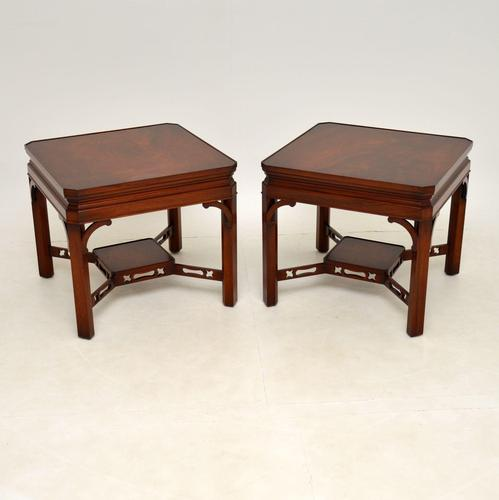 Pair of Georgian Style Mahogany Side Tables c.1950 (1 of 7)
