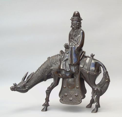 19th Century Chinese Bronze Figure Zhang Guolao on an Ass (1 of 11)
