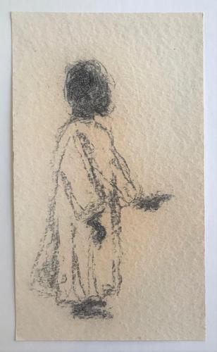 2 Original pencil drawings 'Views in Morocco' by Mieczysław Lurczyński  1907-1992 (1 of 2)