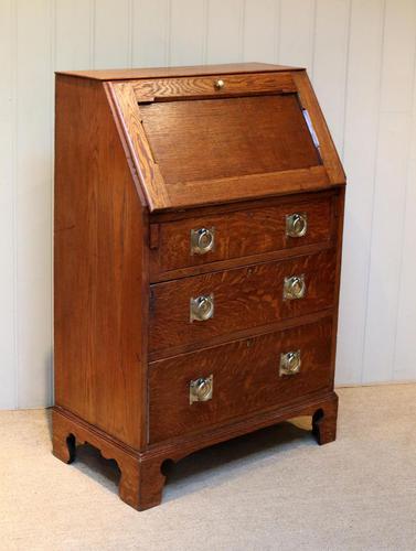 Arts and Crafts Oak Bureau (1 of 11)