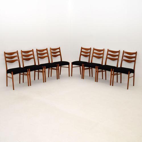 Set of 8 Danish Vintage Teak Dining Chairs by Arne Wahl Iversen (1 of 10)