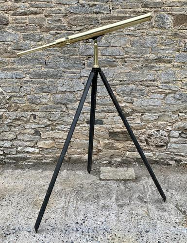 Antique Broadhurst Clarkson & Co Brass Telescope on Tripod (1 of 14)