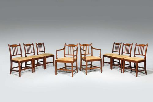Set of Eight George III Period Dining Chairs 'Six Side Chairs plus Two Armchairs' (1 of 9)
