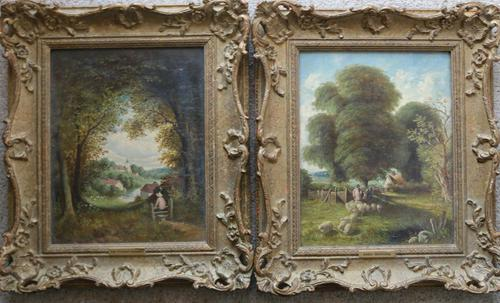 Fine Pair of English Landscapes - J J Hill (1 of 11)