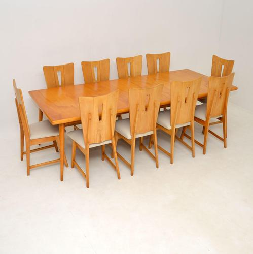 Satin Birch Dining Table & 10 Chairs Vintage 1950's (1 of 12)