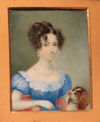 Hand Painted Miniature Portrait Wife 1 of 2 Red Leather Travel Case (1 of 4)