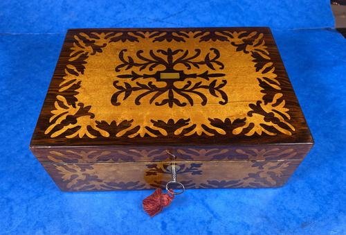 William IV Burr Maple & Rosewood Jewellery Box (1 of 12)