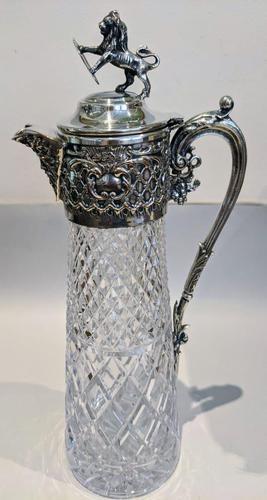 Claret Glass Jug (1 of 7)