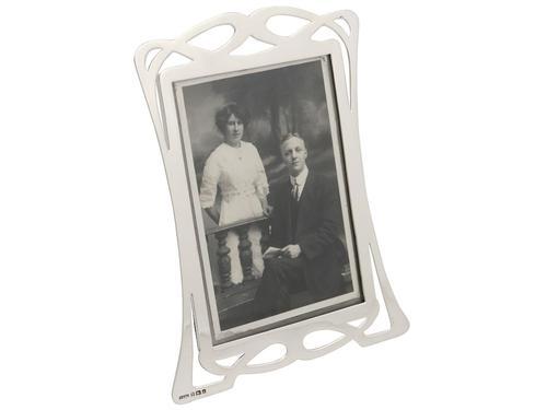 Sterling Silver Photograph Frame - Art Nouveau - Antique Edwardian 1903 (1 of 9)