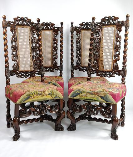 Fine Set of Four Late 17th - Early 18th Century Walnut Chairs (1 of 14)