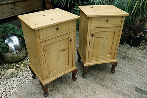 Beautiful & Unusual Old Pine Bedside Cabinets / Cupboards - We Deliver! (1 of 10)