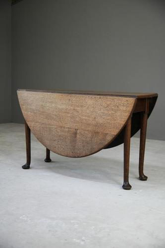 Georgian Oval Oak Gateleg Table (1 of 12)