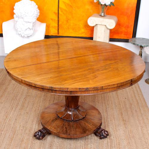 William IV Rosewood Breakfast Table Tilt Top Dining Console (1 of 11)