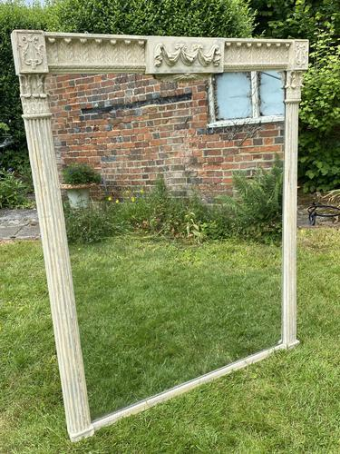 Large Painted Overmantel Mirror (1 of 6)