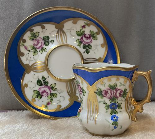 Limoges Hand Painted Cup and Saucer (1 of 4)