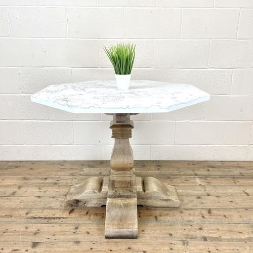 Octagonal Shaped Marble Top Centre Table (1 of 10)