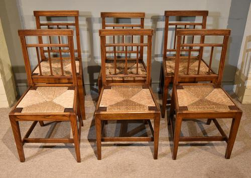 George III Elm Dining Chairs with Rush Seats (1 of 7)