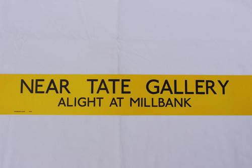 London Transport Slipboard Poster for the Tate Gallery (1 of 1)