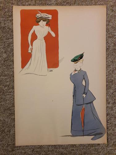 Sem.2 Old Parisian Society Ladies in 1900 (1 of 1)