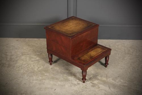 Regency Mahogany & Leather Library Steps (1 of 13)
