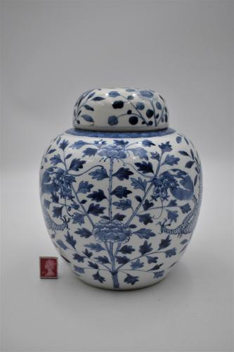 Chinese Porcelain Jar with Lid - Kangxi Revival (1 of 7)