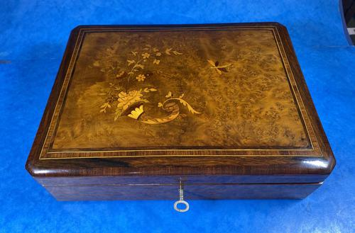 19th Century French Rosewood Jewellery  Box (1 of 11)