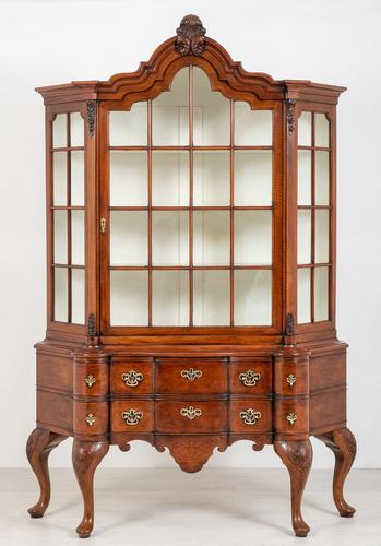 Superb Walnut Dutch Display Cabinet (1 of 11)