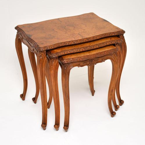 French Burr Walnut Nest of Tables (1 of 9)
