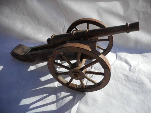 Large Wooden Model of a Cannon (1 of 5)