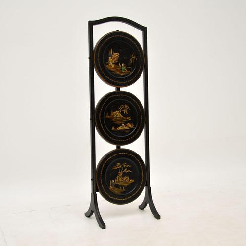 Antique Lacquered Chinoiserie Cake Stand (1 of 11)