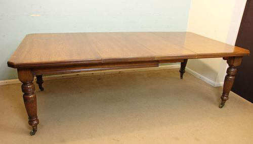 Antique Victorian Oak Extending Dining Table Eight to Ten Seater (1 of 14)