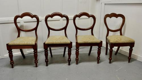 4 Victorian Mahogany Balloon Back Dining Chairs (1 of 6)