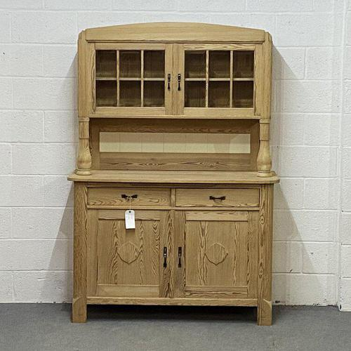 Lovely Old Pine Partly Glazed Dresser (1 of 5)