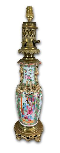 Chinese 19th Century Lamp with Modern Fitting (1 of 5)