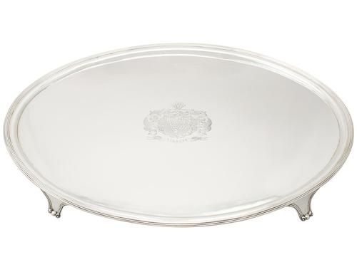 Sterling Silver Salver - Antique George III 1801 (1 of 9)