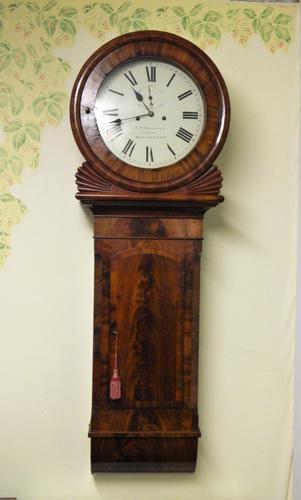 mahogany tavern clock / wall clock (1 of 6)