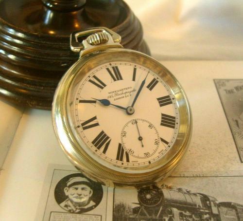 Antique Pocket Watch 1920s Winegartens 7 Jewel Railway Regulator Silver Nickel Case FWO (1 of 12)