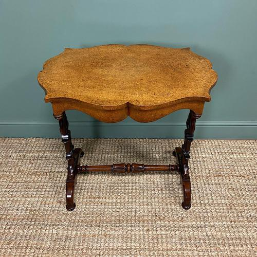 Spectacular Victorian Birds Eye Maple Occasional Table (1 of 8)