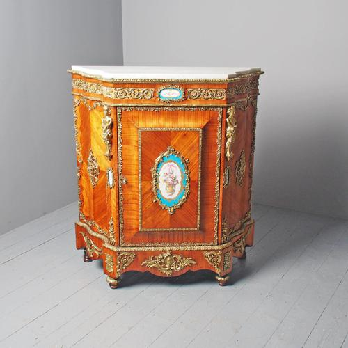 Antique Louis XVI Style Kingwood & Marble Cabinet (1 of 18)