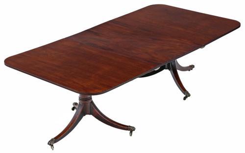 Georgian C1815 Mahogany Extending Pedestal Dining Table 19th Century (1 of 10)